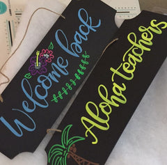 DIY back to school sign with kassa chalk markers