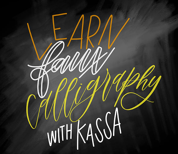 learn faux calligraphy with kassa chalk markers