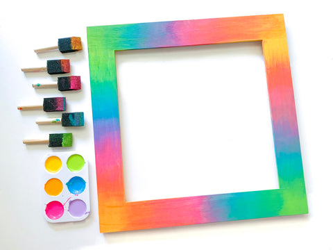 acrylic painted picture frame for diy kassa chalkboard sign