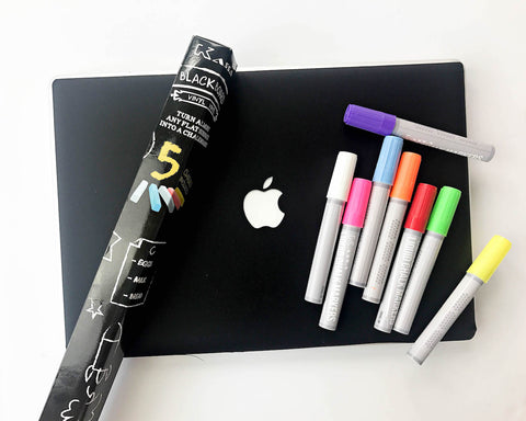 Kassa chalkboard decal and chalk markers for blackboard