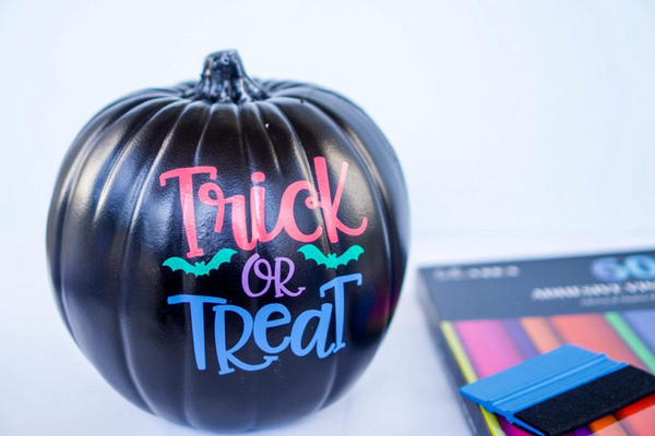 trick or treat kassa vinyl designs black pumpkin