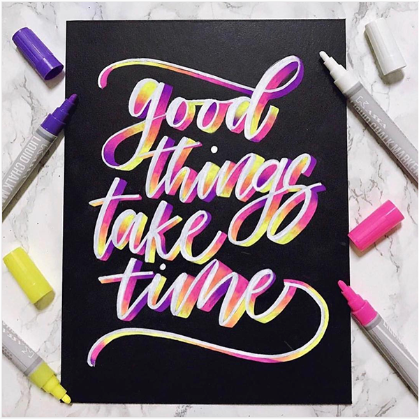 kassa chalk markers calligraphy lettering