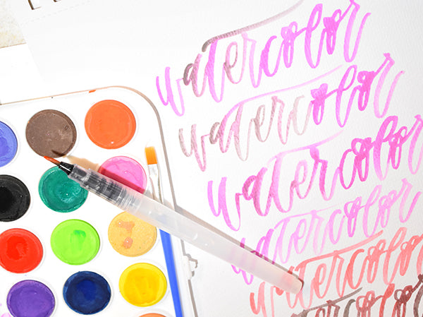 brush lettering with kassa watercolor ste