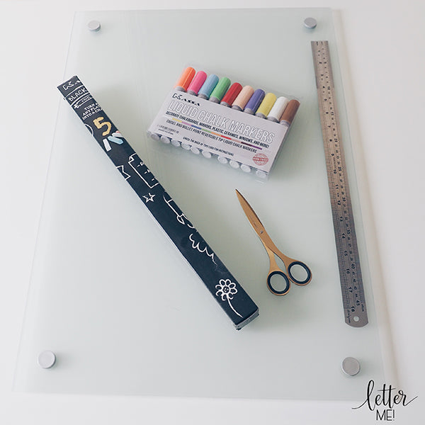 Kassa Arts & Crafts supplies for drawing on chalkboard