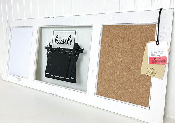 upcycle message board for chalkboard and whiteboard vinyl