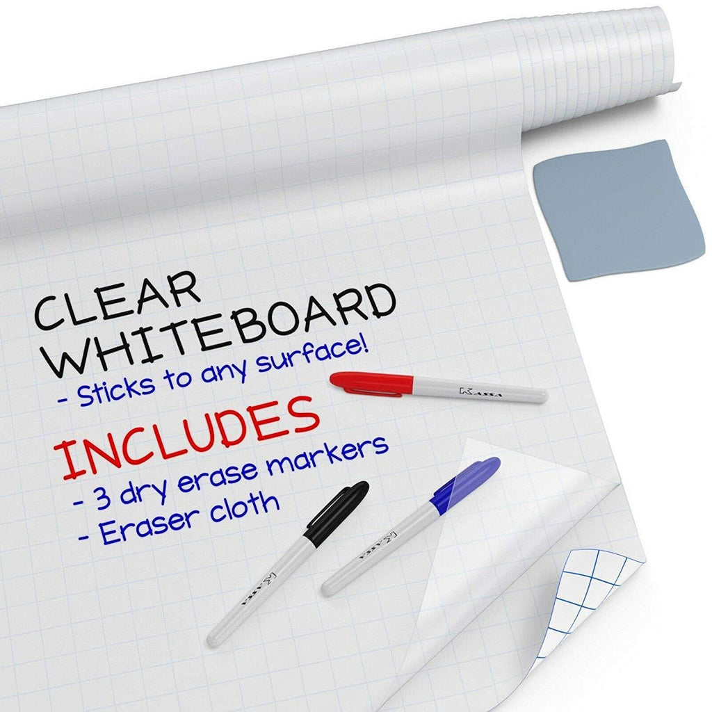Clear Dry Erase Sticker Roll (8 ft)
