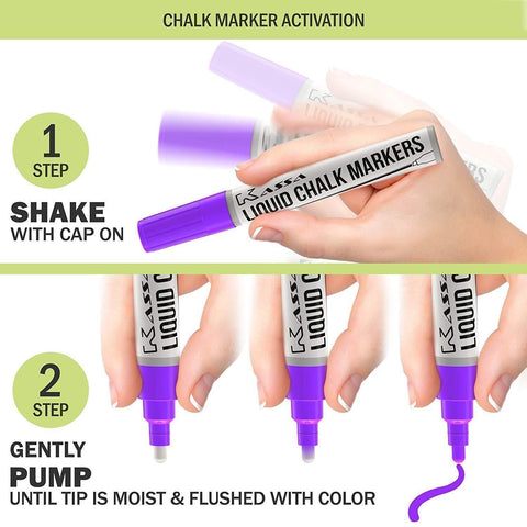 Fine Tip Neon Chalk Markers (10 Pack)