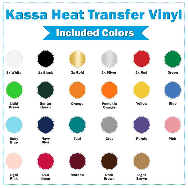 Heat Transfer Vinyl Sheets - Kassa