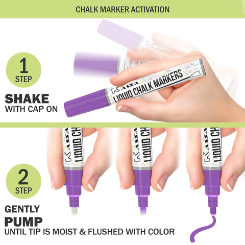 Pastel Chalk Markers (12 Pack)