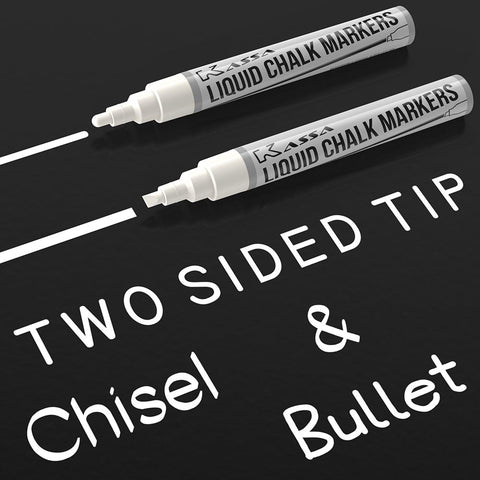 White Chalk Markers (2 Pack)