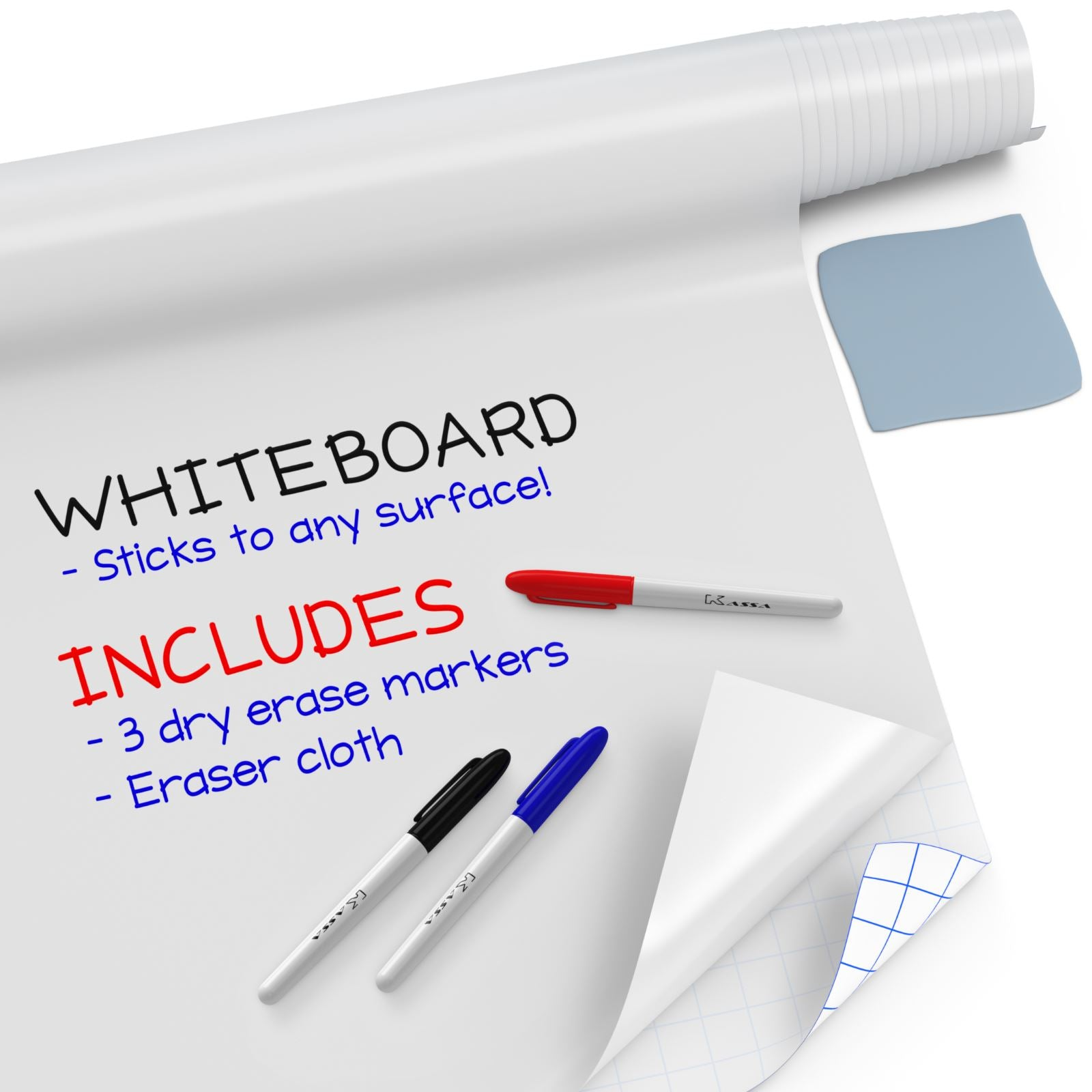 Whiteboard Sticker Roll (8 ft)