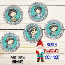 Arabian Princess One Inch Bottle Cap Circle - Seven Dwarves Cottage