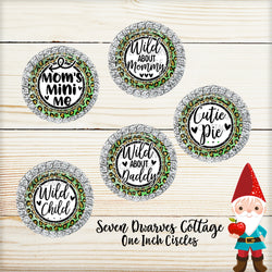 Green Cheetah Family Sayings One Inch Bottle Cap - Seven Dwarves Cottage