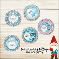 Adorable Abominable Snowman Yeti One Inch Circle Bottle Cap - Seven Dwarves Cottage