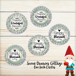 Green Eucalyptus Inspirational Sayings One Inch Bottle Cap - Seven Dwarves Cottage