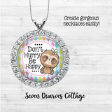 Cute Sloths with Sayings One Inch Bottle Cap Circles - Seven Dwarves Cottage