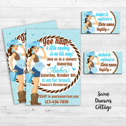 Country Girl Baby Shower Invitation - Seven Dwarves Cottage