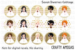 Gold Girls First Communion One Inch Circles Bottle Cap - Seven Dwarves Cottage