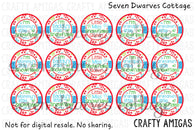 Cute Little Snowflake Sayings One Inch Circles Bottle Cap Sheet - Seven Dwarves Cottage
