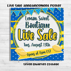 Lemonade Love Live Sale Boutique Poster - Seven Dwarves Cottage