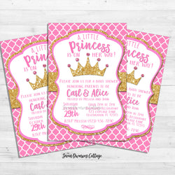 Royal Princess Arrival Baby Shower Printable Invitation - Seven Dwarves Cottage