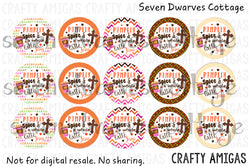 Pumpkin Spice and a Whole Latte Jesus One Inch Bottle Cap Circle - Seven Dwarves Cottage