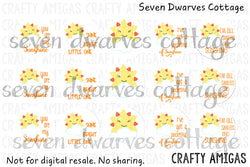 Kawaii Sun Clouds Sunshine Sayings One Inch Circles Bottlecap - Seven Dwarves Cottage