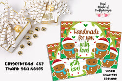 Gingerbread Cuties Christmas Thank You Client Cards - Seven Dwarves Cottage