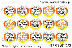 Candy Corn Halloween Cute Sayings One Inch Bottle Cap - Witch Better Have My Candy - Seven Dwarves Cottage