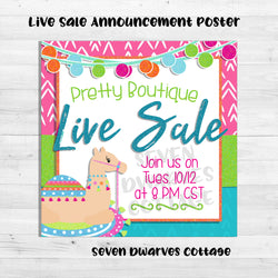 Bright Desert Oasis Live Sale Boutique Poster - Seven Dwarves Cottage