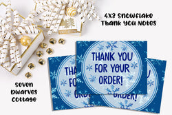 Snowflake Thank You Client Card - Seven Dwarves Cottage