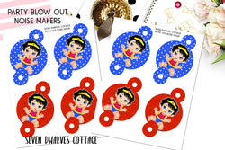 Wonder One-der Woman First Birthday Noise Maker Party Blow Out Digital File - Seven Dwarves Cottage