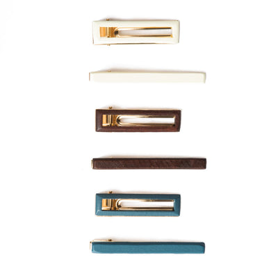 Painted Wood Clip Set (BSA1013)-HAIR ACCESSORY-San Diego Hat Company