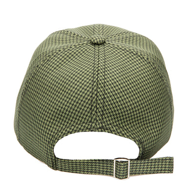 Women's Green Houndstooth Ball Cap with Back Slider (CTH1804)