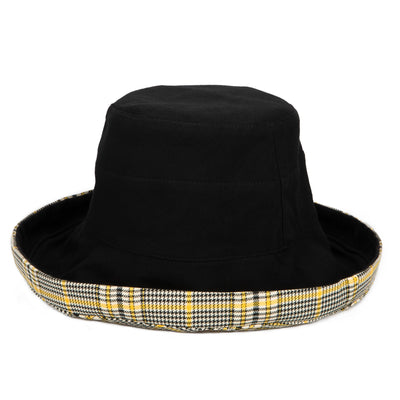 Women's Reversible Cut and Sew Plaid Kettle Brim Hat (CTH1805)