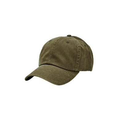 Women's washed canvas ball cap with adjustable back (CTH8268)