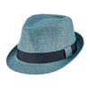 Men's Cut and Sew Fedora in Blue