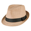 Men's Cut and Sew Fedora in Khaki
