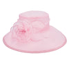 Women's Pink Dress Hat with Rosette Petals in Pink