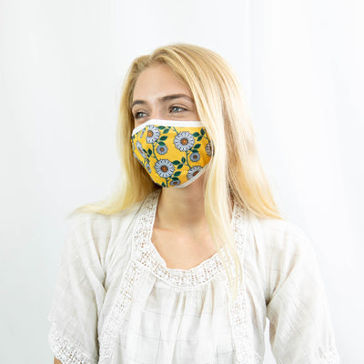 Wildflowers Print Face Mask