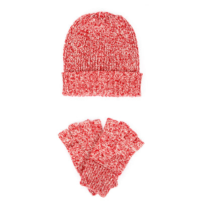 Women's Machine Knit Fingerless Gloves w/Ribbed Cuff (FWSET2038)-SET-San Diego Hat Company