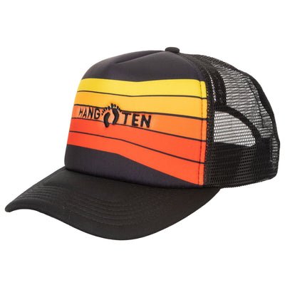 Hang Ten Sublimated Trucker Hat with Embroidered Logo and Mesh Back - HTH0214-Trucker-San Diego Hat Company