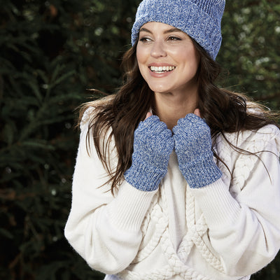 Women's Marled Knit Fingerless Glove (KNG2038)