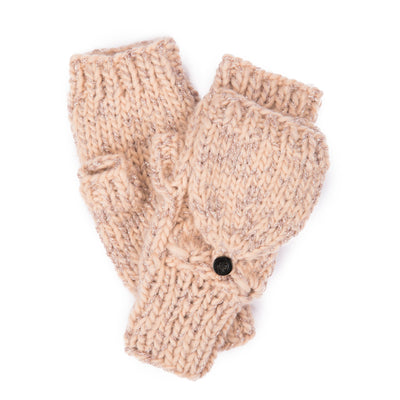 Women's Pop Over Gloves w/Rose Gold Lurex (KNG2043)-GLOVES-San Diego Hat Company