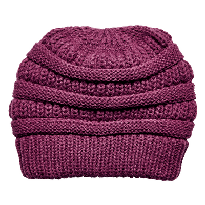 Women's Solid Knit Beanie