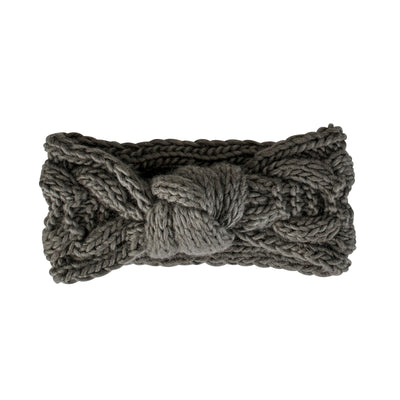 Womens Cable Knit Knot Headband