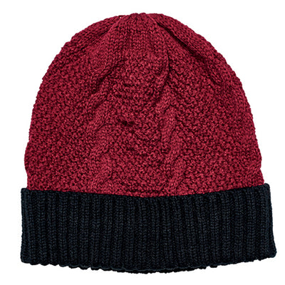 Cable Knit Beanie With Cuff (KNH3449OS)-BEANIE-San Diego Hat Company