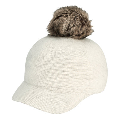 Women's Molded Knit Cap with Pom (KNH3610) - Final Sale