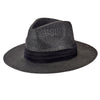 "Mens Woven 3"" Brim Paper Fedora (PBF7308) IN BLACK"