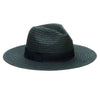 Hats - Women's Paper Braided Fedora With A Bow Band (PBF7300) in Black